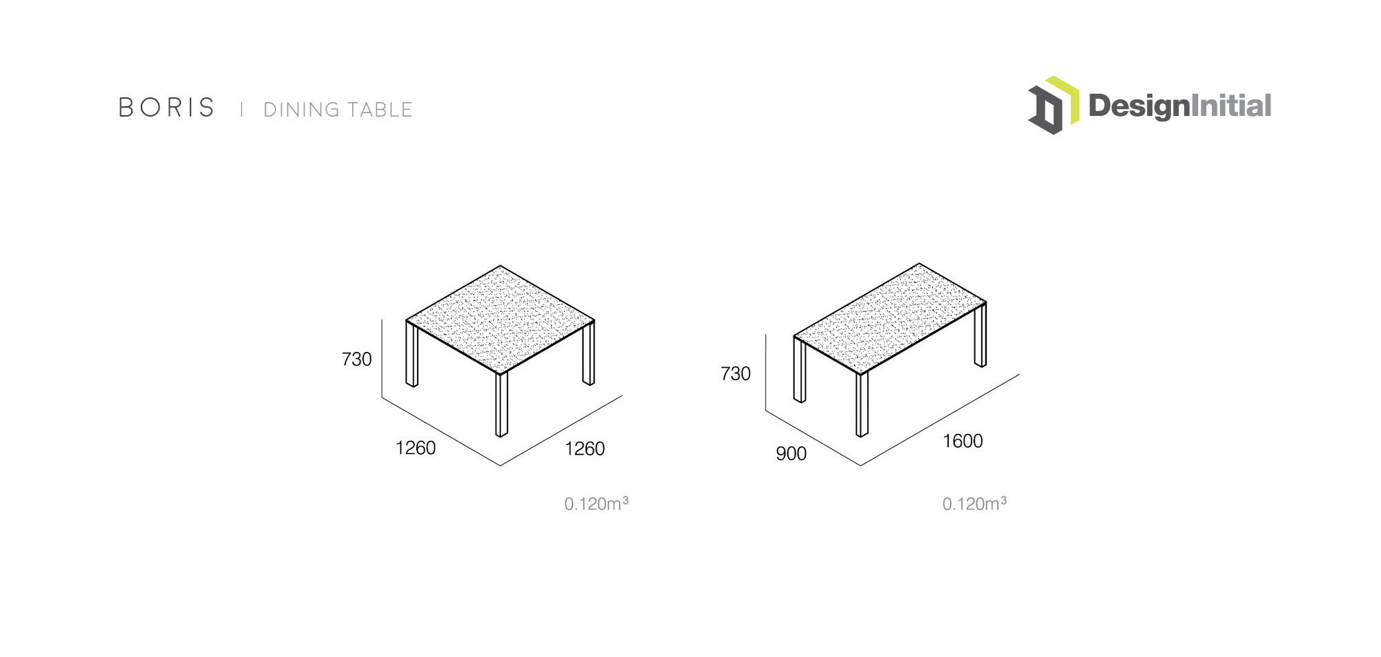 Boris Dining Table Specifications